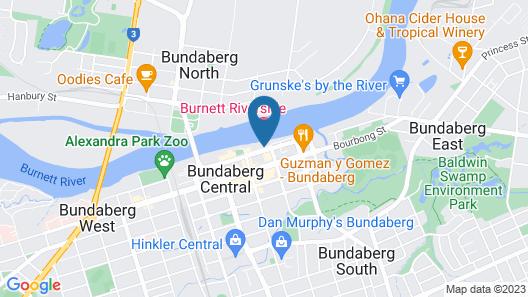 Burnett Riverside Hotel Map