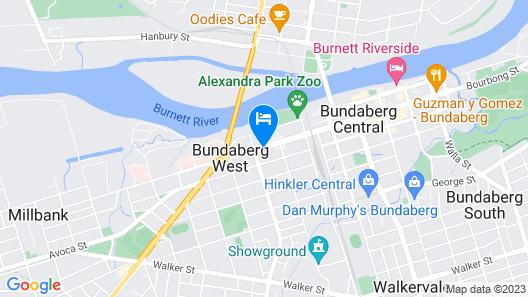 Best Western Bundaberg Cty Mtr Inn Map