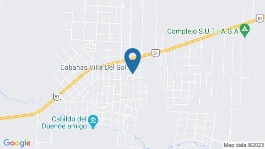 Cabañas Villa del Sol Map