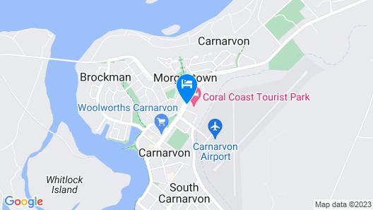 Coral Coast Tourist Park Carnarvon Map
