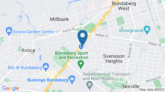 Bundaberg Coral Villa Motor Inn Map