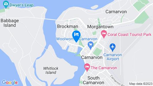 Carnarvon Motel Map
