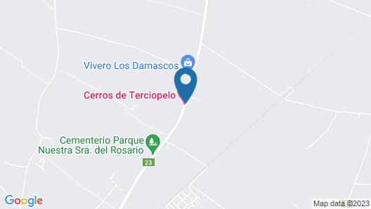 Cerros de Terciopelo Map
