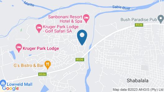 Mthunzi Lodge Map