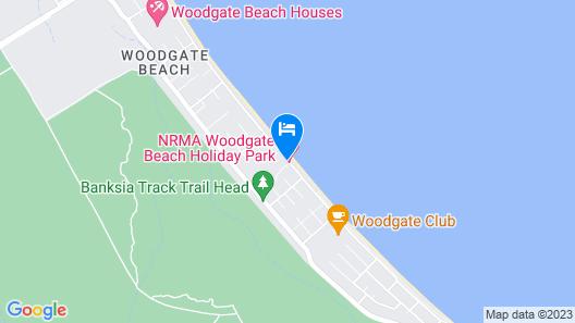 NRMA Woodgate Beach Holiday Park Map