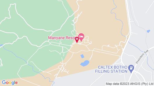 Golden Leopard Resorts - Manyane Resort Map