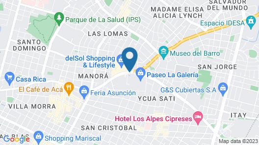 Sheraton Asuncion Hotel Map