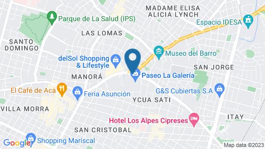 Paseo La Galería Hotel & Suites Map