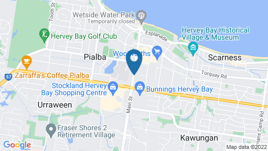 Comfort Inn on Main Hervey Bay Map