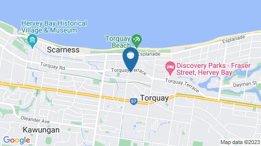 Flashpackers Hervey Bay Hostel Map
