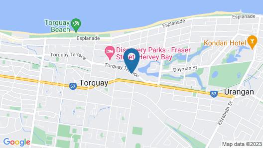 Torquay Terrace Bed & Breakfast Map