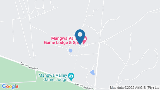 Mangwa Valley Game Lodge & Spa Map