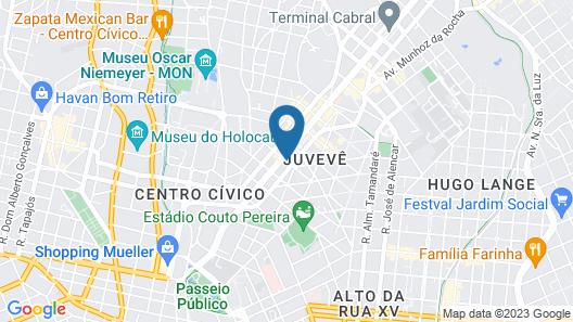 Intercity Curitiba Centro Cívico Map