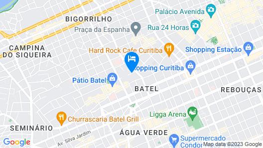 Quality Hotel Curitiba Map