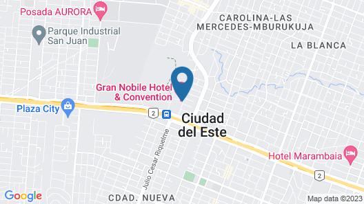 Nobile Grand Hotel & Convention - Ciudad del este Map
