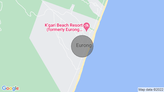 'the Bungalow' Fraser Island Second Valley Eurong Map