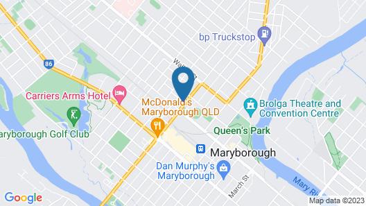 Maryborough City Motel Map