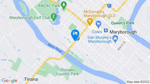 Blue Shades Motel Map