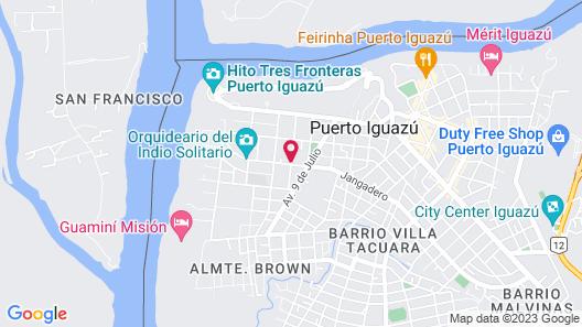 Cabañas El Hornero Map