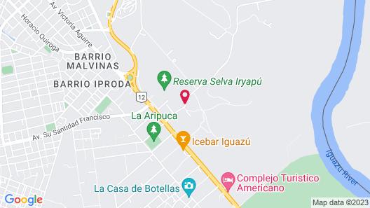 La Aldea de la Selva Lodge Map