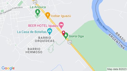 Yaguarete Lodge Map