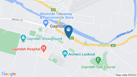 Country Roads Motor Inn Gayndah Qld Map