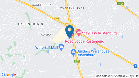 Road Lodge Rustenburg Map