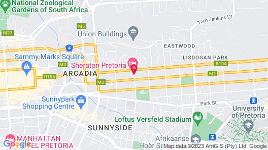 Sheraton Pretoria Hotel Map