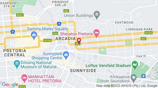 Akanani Apartments Map