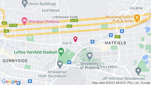 Courtyard Hotel Arcadia Map