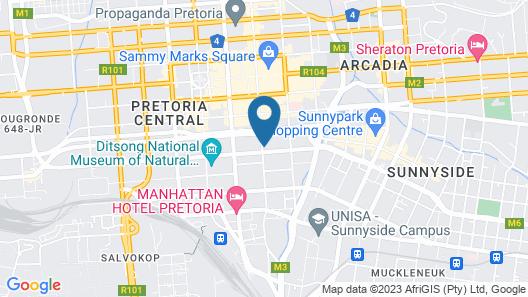 ANEW Hotel Capital Pretoria Map