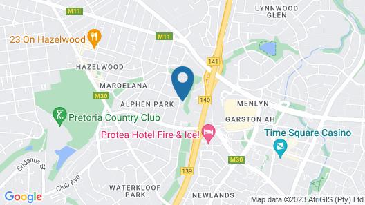 The Regency Apartment Hotel Menlyn Map