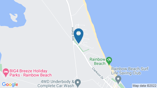 Treetops Studio Apartment, Rainbow Beach Resort Map