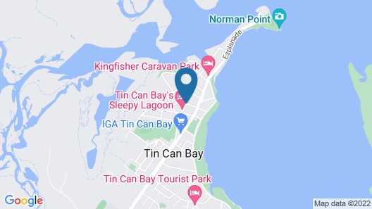 Tin Can Bay Budget Accommodation Map