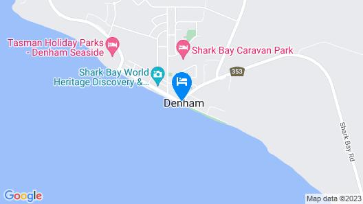 Shark Bay Seafront Apartments Map