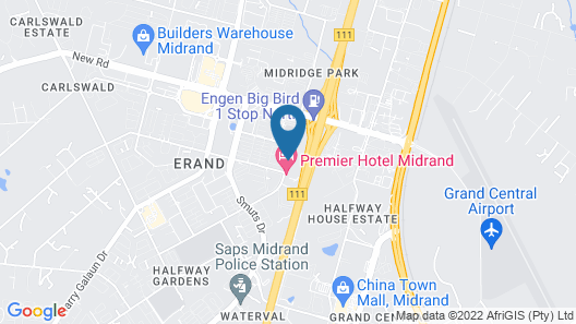 Premier Hotel Midrand Map
