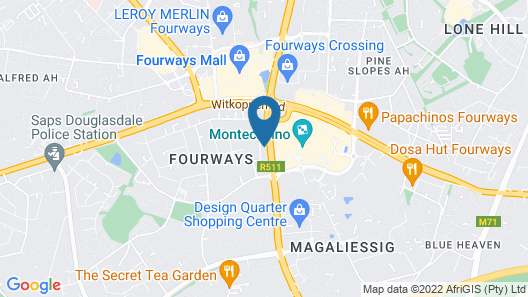 Fourways Youth Hostel Map