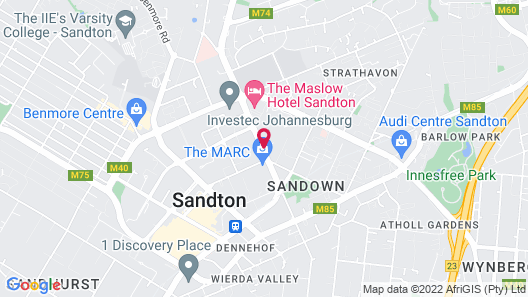 Hilton Sandton Map