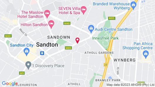 Park Inn Sandton Map