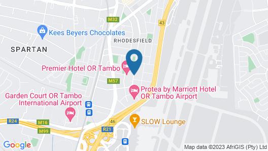 Premier Hotel OR Tambo Map