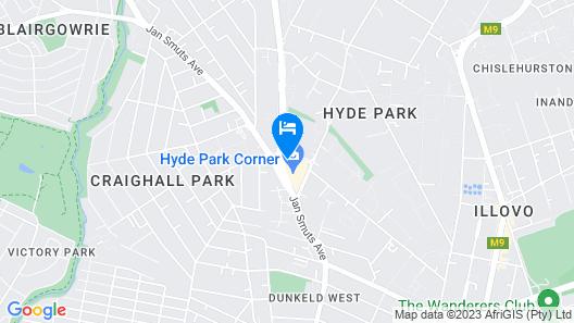 Southern Sun Hyde Park Map