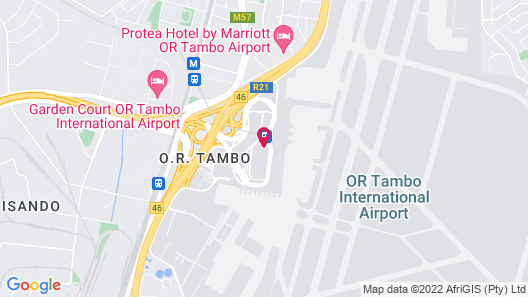 InterContinental Johannesburg O.R Tambo Airport, an IHG Hotel Map