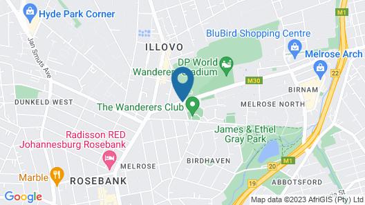 Protea Hotel by Marriott Johannesburg Wanderers Map
