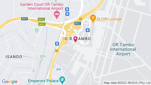 Southern Sun O.R. Tambo International Airport Map