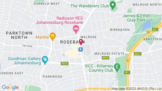 Courtyard Hotel Rosebank Map