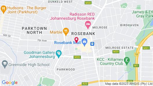 Southern Sun Rosebank Map