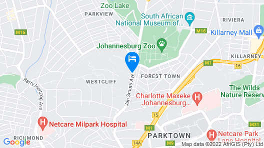 Four Seasons Hotel The Westcliff, Johannesburg Map