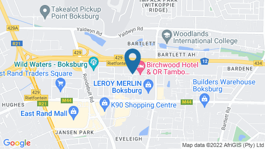 Birchwood Hotel and OR Tambo Conference Centre Map