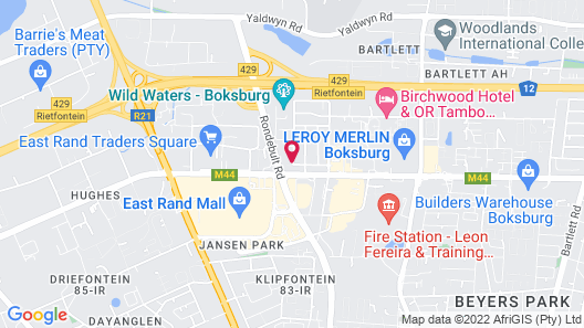 Holiday Inn Johannesburg Airport, an IHG Hotel Map