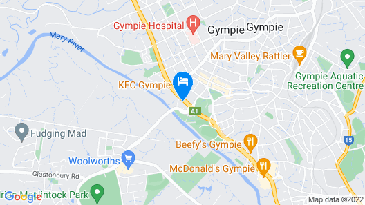 Room Motels Gympie Map